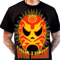 Lucky Mule Brand- Viva Lucha on a black shirt (Sale price!)