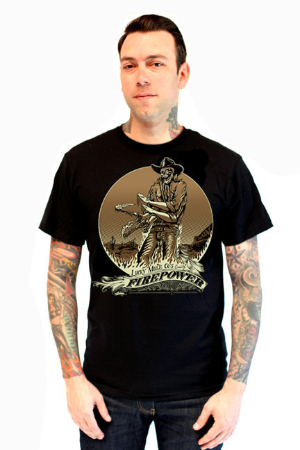 Lucky mule brand fire power on a black shirt sale price for On fire brand t shirts
