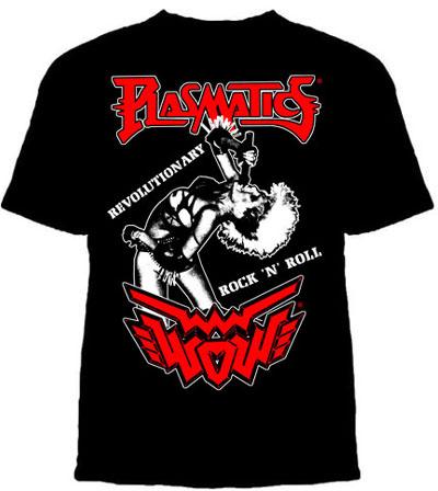 Plasmatics- Revolutionary Rock on a black ringspun cotton shirt