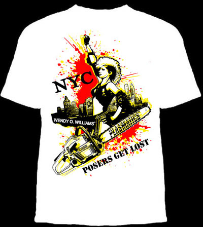 Plasmatics- Posers Get Lost on a white ringspun cotton shirt