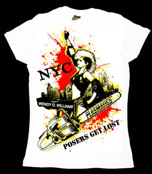 Plasmatics- Posers Get Lost! on a white girls fitted shirt