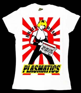 Plasmatics- Brain Dead on a white girls fitted shirt