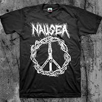 Nausea- Crucifix on a black shirt