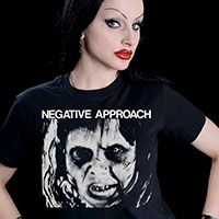Negative Approach- Face on a black shirt