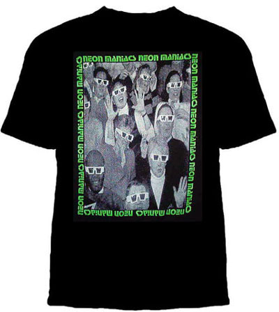 Neon Maniacs- 3-D Glasses on a black shirt (Sale price!)