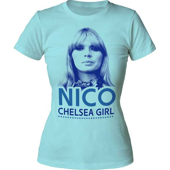 Nico- Chelsea Girl on a light blue girls fitted shirt (Sale price!)