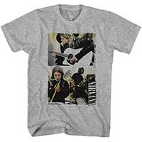 Nirvana- Band Pics on a heather grey shirt