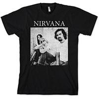 Nirvana- Band Sitting on a black shirt