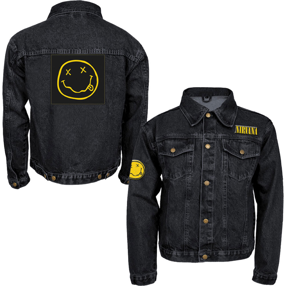 Nirvana black denim jacket
