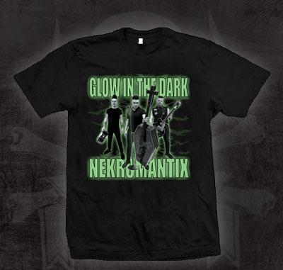 Nekromantix- Glow In The Dark on a black shirt (Sale price!)