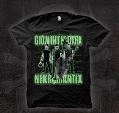 Nekromantix- Glow In The Dark on a black girls fitted shirt (Sale price!)