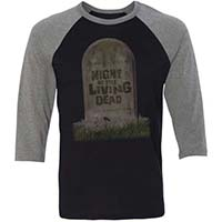 Night Of The Living Dead- 50th Anniversary on a black/grey 3/4 sleeve shirt
