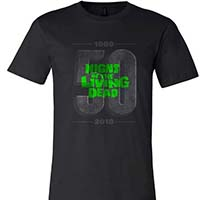Night Of The Living Dead- 50th Anniversary on a black ringspun cotton shirt