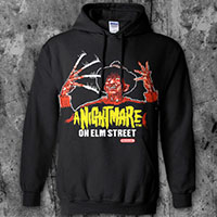 Nightmare On Elm Street- Nintendo Freddy on a black hooded sweatshirt