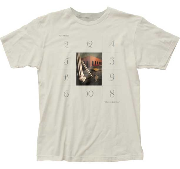 New Order- Thieves Like Us on a vintage white ringspun cotton shirt