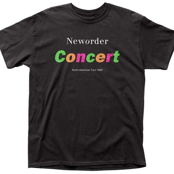 New Order- Concert on a black shirt