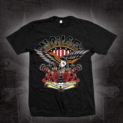 Noi!se- American Streetpunk on a black shirt (Sale price!)