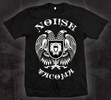 Noi!se- Tacoma Eagle on a black shirt (Sale price!)