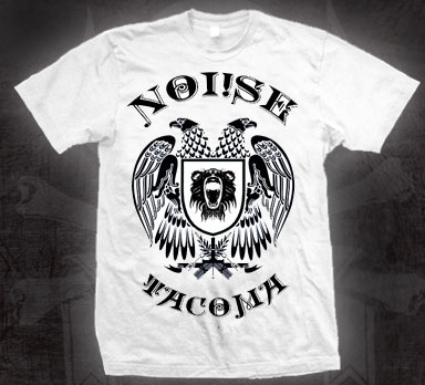 Noi!se- Tacoma Eagle on a white shirt (Sale price!)