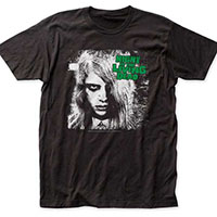 Night Of The Living Dead- Karen & Green Logo on a black ringspun cotton shirt