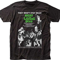 Night Of The Living Dead- Movie Poster on a black shirt