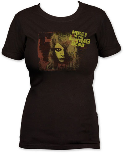 Night Of The Living Dead- Karen on a black girls fitted shirt (Sale price!)