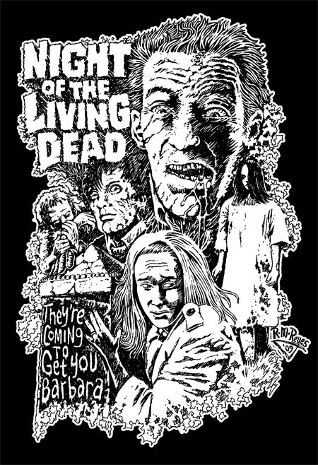 Night Of The Living Dead- They're Coming To Get You Barbara on a black hooded sweatshirt (Sale price!)