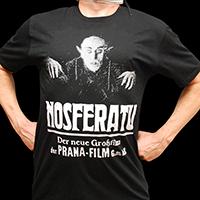 Nosferatu- German Ad on a black ringspun cotton shirt