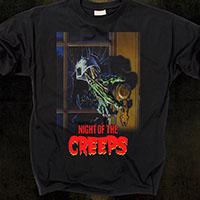 Night Of The Creeps- Doorknob on a black shirt