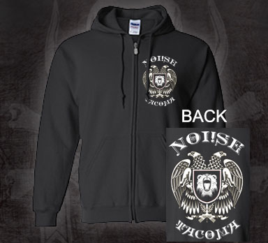 Noi!se- Tacoma Eagle on front & back on a black zip up hooded sweatshirt (Sale price!)