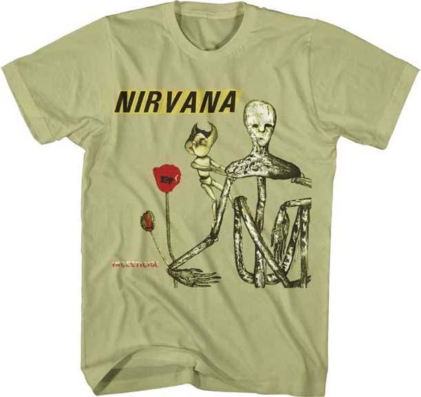 Nirvana- Incesticide on a slate dyed shirt