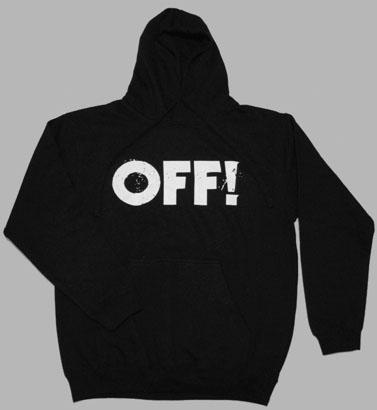 Off!- Logo on a black hooded sweatshirt (Sale price!)