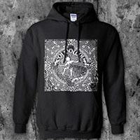 Oi Polloi- Fuaim Catha on a black hooded sweatshirt