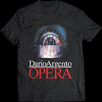 Opera- Bloody Eye on a black ringspun cotton shirt (Dario Argento)