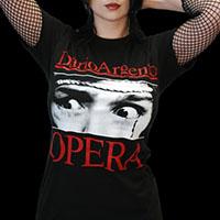 Opera- Betty (Eyes) on a black ringspun cotton shirt (Dario Argento)