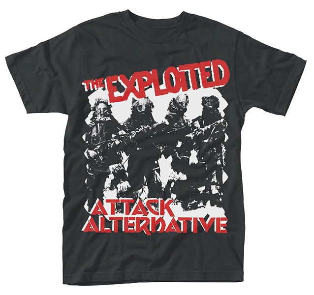 Exploited- Attack on a black ringspun cotton shirt (UK Import!)