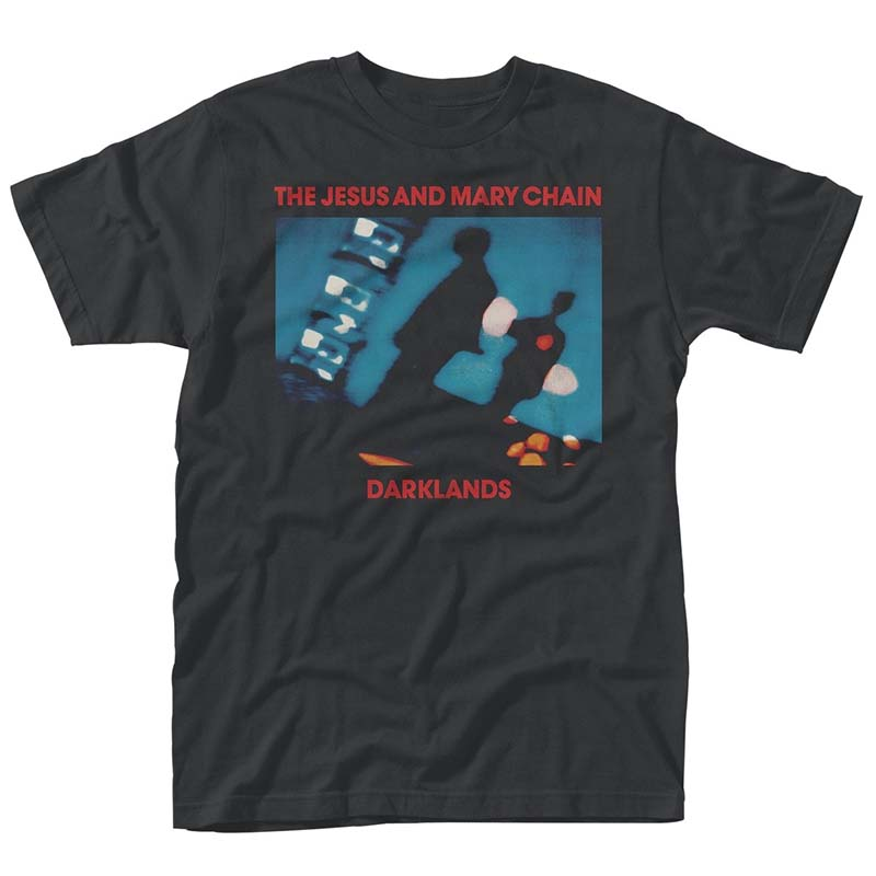 Jesus And Mary Chain- Darklands on a black ringspun cotton shirt (UK Import!)
