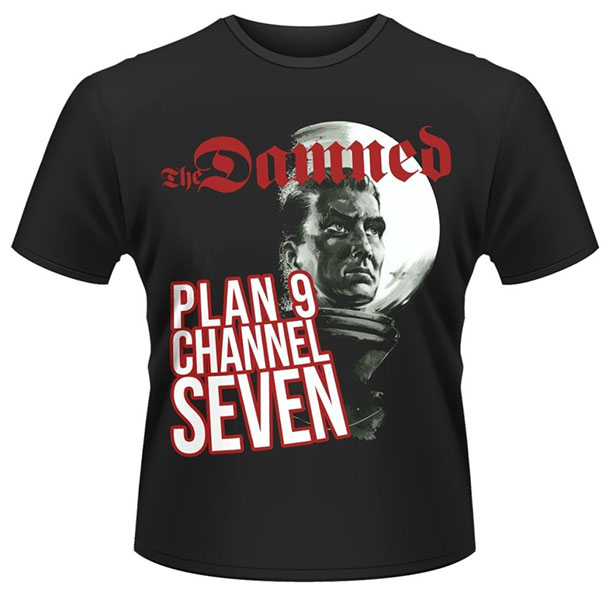 Damned- Plan 9 Channel 7 on a black ringspun cotton shirt (UK Import!)