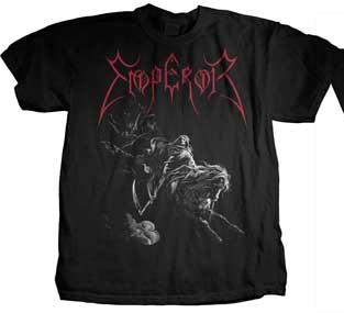 Emperor- Rider on front, Pentagram on back on a black shirt