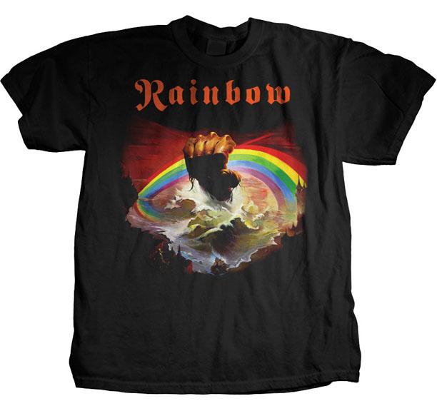Rainbow- Rising on a black shirt