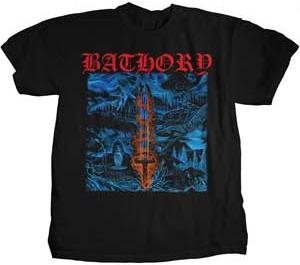 Bathory- Blood On Ice on front & back on a black shirt