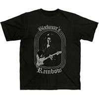 Rainbow- Blackmore's Rainbow on a charcoal shirt