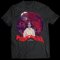 Phenomena- Danny West Design on a black ringspun cotton shirt (Dario Argento)