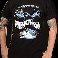 Phenomena- Movie Poster on a black ringspun cotton shirt (Dario Argento)