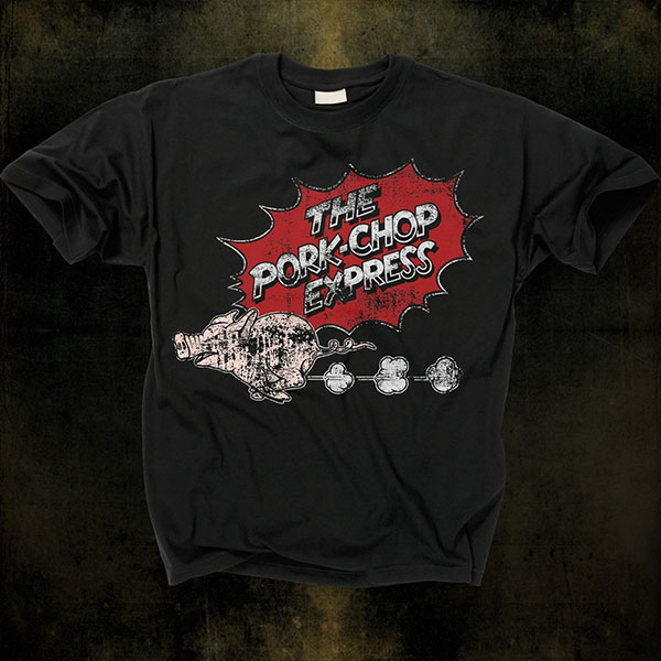 Big Trouble In Little China- Porkchop Express on a black shirt