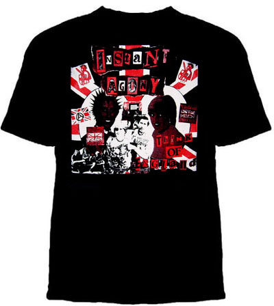 Instant Agony- Think Of England on a black shirt (Sale price!)
