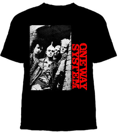 One Way System- Band Pic on a black shirt (Sale price!)
