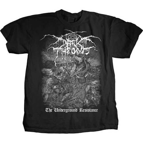 Darkthrone- Underground Resistance on a black shirt