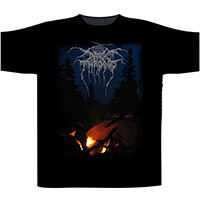 Darkthrone- Arctic Thunder on front & back on a black shirt