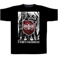 Marduk- Frontshwein Band on front & back on a black shirt